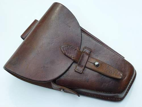 Pre-War Polish Radom Vis holster with ink stamps, 100% original pre war ?