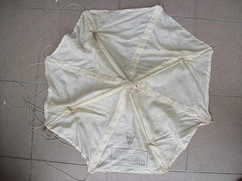 1936 dated Poliish (supply drop)  Parachute or part of Barrage/Weather Baloon