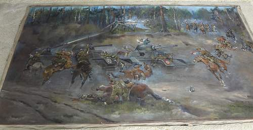 Battle of Bzura:  Kutno 1939 painting by Jerzy Kossak