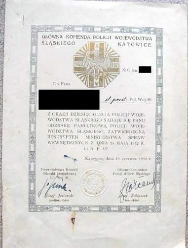 Click image for larger version.  Name:X-lecie Policji Woj. Śląskiego - dyplom.jpg Views:74 Size:38.7 KB ID:540876