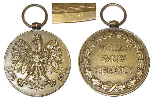 Polish Soviet war medal 1918-1921