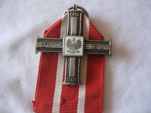 Cross for his role in the 1918-1921