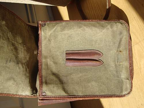 Early Polish officers cloth map case