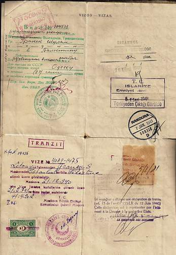 Click image for larger version.  Name:1940 Lithuanian Sauf-conduit-  PALESTINE. b.jpg Views:105 Size:95.4 KB ID:587308