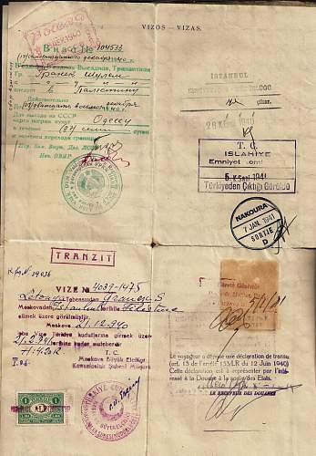 Click image for larger version.  Name:1940 Lithuanian Sauf-conduit-  PALESTINE. b.jpg Views:184 Size:95.4 KB ID:587308