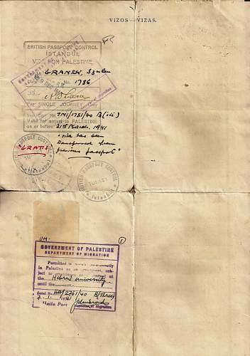 Click image for larger version.  Name:1940 Lithuanian Sauf-conduit-  PALESTINE. c.jpg Views:113 Size:69.7 KB ID:587309