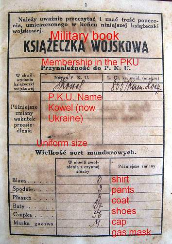 Polish military pay book
