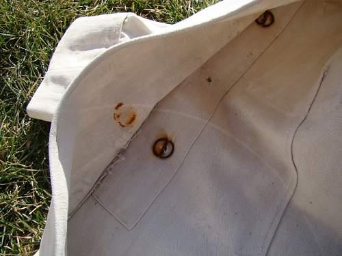 Wz.21/22 Polish Naval officer's summer white tunic, 100% original pre war, please ?