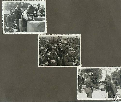 Interesting photos pages from album of Polish army manouvers 1937 with a General in them