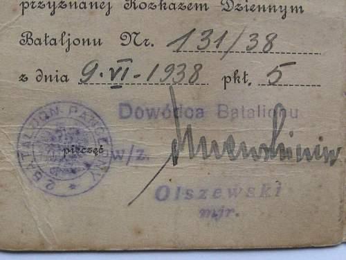 2 Batalion Pancerny legitymacji 1938 and 2 BPanc group photo 1936.