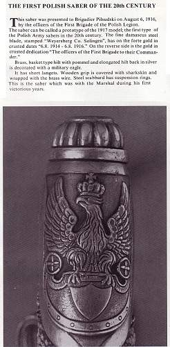 Click image for larger version.  Name:Pilsudski's Sabers - The 1st Polish Saber XX Century.jpg Views:232 Size:226.8 KB ID:72017