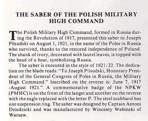 Click image for larger version.  Name:Pilsudski's Sabers - The Saber of the Polish Military High Command text.jpg Views:809 Size:156.7 KB ID:72030