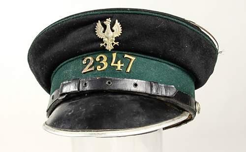 Prewar Polish Policemans (EM version) Prison Guard, Dog Handler's  cap, 100% original prewar, please ?