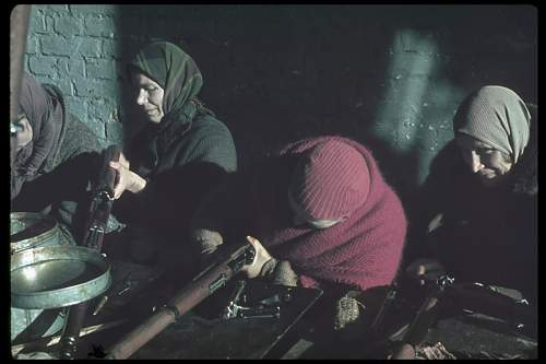 Click image for larger version.  Name:Polish women clean captured Polish guns in Modlin Fortress, north of Warsaw, 1939.jpg Views:92 Size:62.8 KB ID:734650