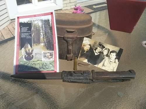 Some recent vacation finds (WZ.22? bayonet, 1927 mess kit, pre war Marynarka Wojenna photo)