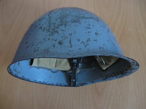 Wz.31 Polish Helmet (non-salamander - smooth paint) - 100% original ? Would have been used by Airforce, Navy, OPL, LOPP ?