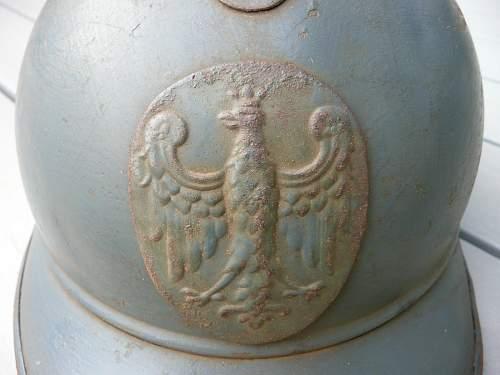 POLISH ADRIAN Helmet Badge WW1 ??? Genuine or Copy ??