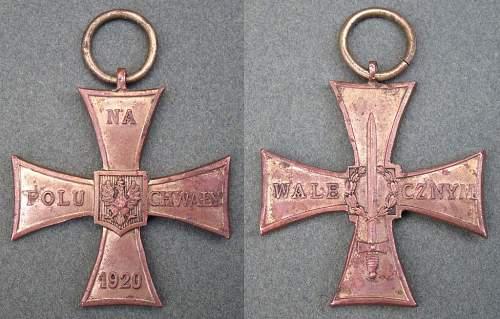 Cross of Valour (Krzyż Walecznych) – Pre-WW2 Types