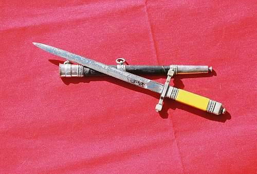 Polish army dagger,engraved