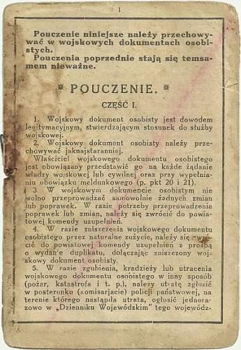 1937 Military Certificate