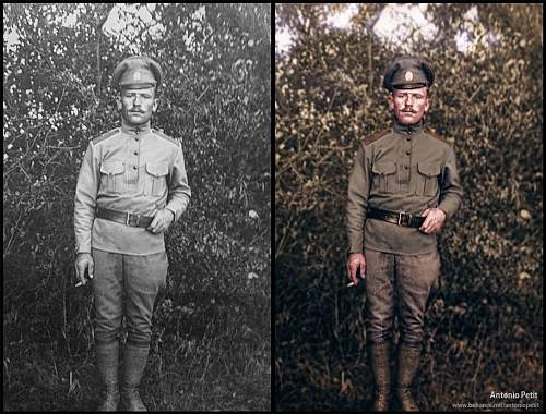 Restored Photography of Polish soldier