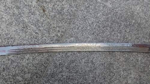 Count-General Stanisław Szeptycki's Sword