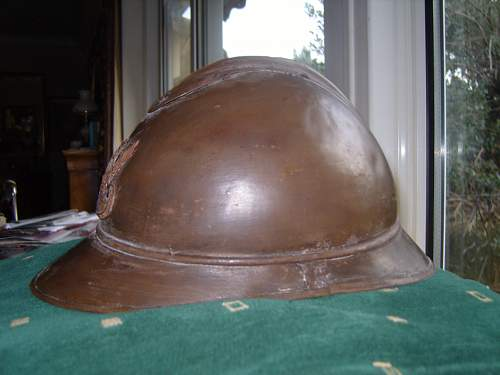 My Wz.15 Polish Adrian Helmet - from the War of Independance ? with owners Name and  Army Number