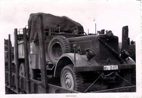 Click image for larger version.  Name:GERMAN WW2 PHOTO LW TRUCK POLISH HELMET RIFLE GAS MASK.jpg Views:562 Size:81.2 KB ID:869354