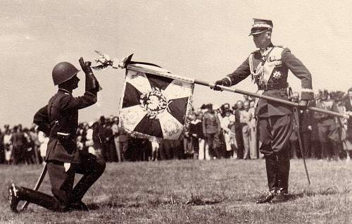 Click image for larger version.  Name:Smigly-Rydz presents regimental colours 1936.jpg Views:10397 Size:243.6 KB ID:8821