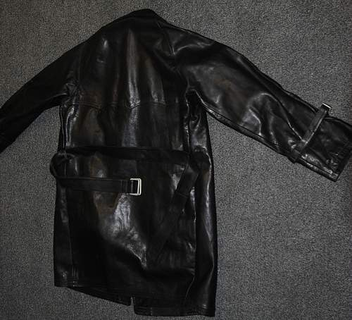 Wz.36 Polish Tanker's Black Leather Jacket / Coat (matches exactly the original design specifications), 100% original Prewar, please ?
