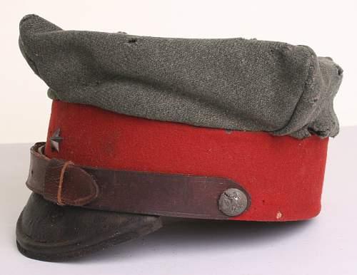 Prewar Polish army 2nd lieutenants cap , 100% original Prewar, please ?