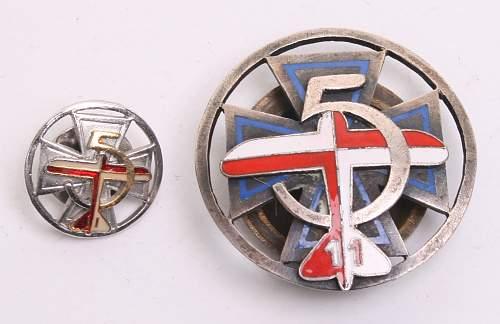 5th Air Force Regiment, 11th Squadron ?  Regimental badge, 100% original Prewar, please ?