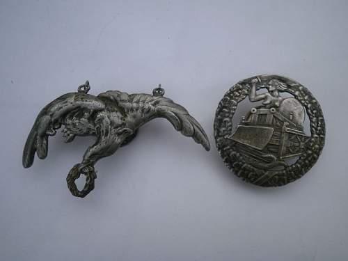 Polish Pilot & Saper regiment Badges WW2