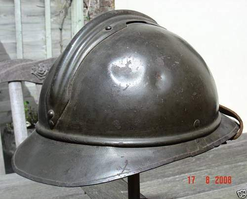 Click image for larger version.  Name:Polish Cavalry M1530 Adrian Steel Helmet very rare $1331 brun-1 (5).jpg Views:115 Size:51.8 KB ID:94047