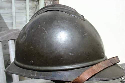 Click image for larger version.  Name:Polish Cavalry M1530 Adrian Steel Helmet very rare $1331 brun-1 (6).jpg Views:110 Size:39.1 KB ID:94048