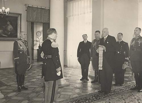 Click image for larger version.  Name:President Moscicki about to award the Grand Cross OOP to French General Gamelin.jpg Views:101 Size:165.0 KB ID:965283