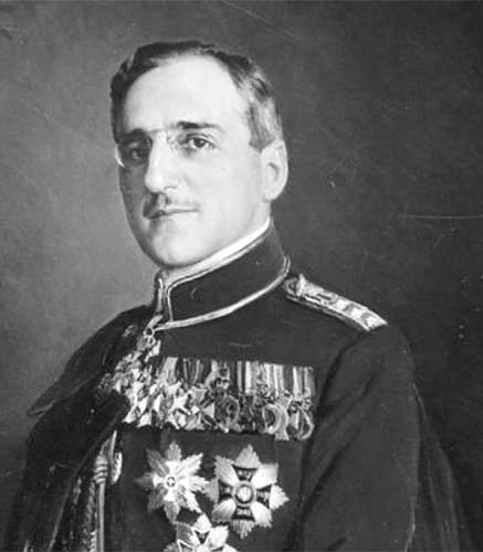 Click image for larger version.  Name:King Alexander 1 of Yugoslavia portrait wearing the Star of the VM  Nr 5.jpg Views:35 Size:100.9 KB ID:967613