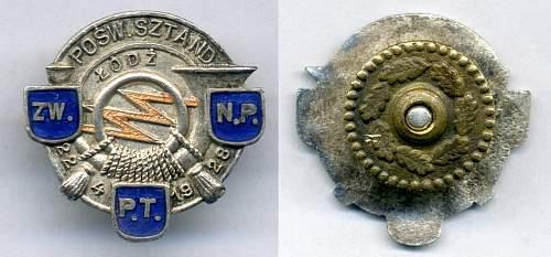 pre-war badge
