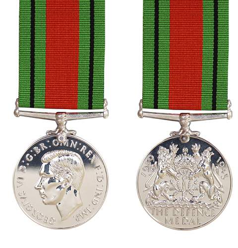 Click image for larger version.  Name:1939 1945 Defence Medal obv and rev.jpg Views:26 Size:43.9 KB ID:1000789
