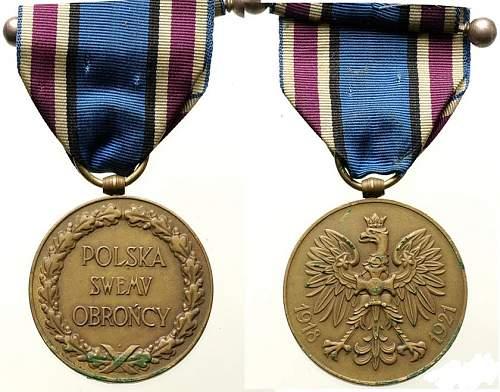 Click image for larger version.  Name:1918 1921 Medal Wojsko.jpg Views:7 Size:171.3 KB ID:1000806