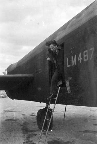 Click image for larger version.  Name:Por Naw Mieczyslaw Bergner DFM stepping out of a Lancaster LM487.jpg Views:6 Size:41.5 KB ID:1001336