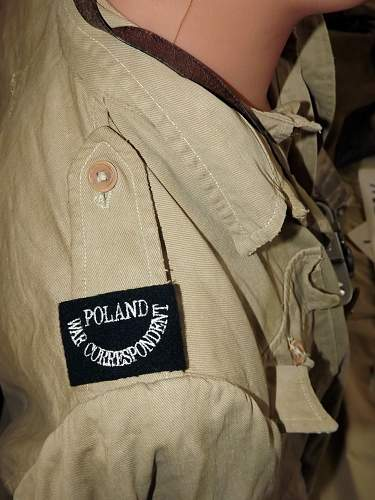 WW2 Polish - war correspondent - display