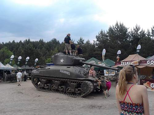 Remembrance-shermantank for Polish liberation replaced at Tielt!
