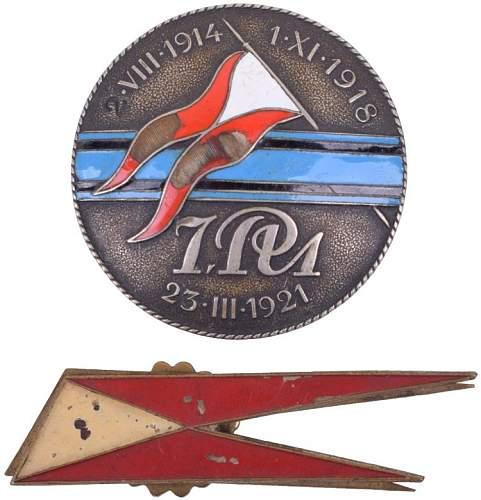 help identification of polish badges
