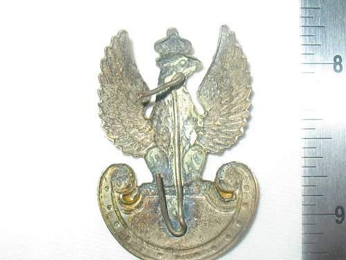 Click image for larger version.  Name:Polish Cap Badge back.jpg Views:95 Size:226.6 KB ID:116230