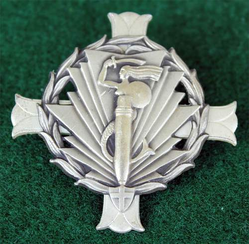 Click image for larger version.  Name:2nd Artillery Group Silver Officers Badge 1d.jpg Views:232 Size:161.2 KB ID:117299