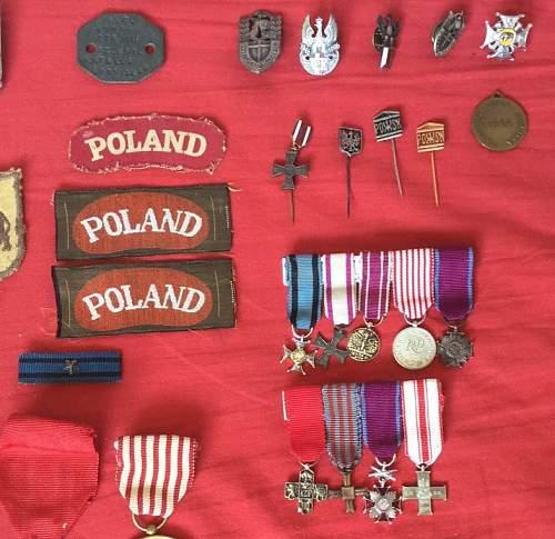 Group to a local Polish veteran