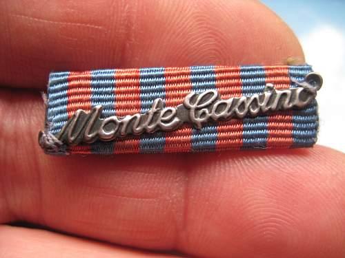 Monte Cassino medal bar