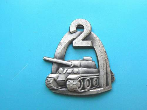 2nd Warsaw Armoured Division metal badge