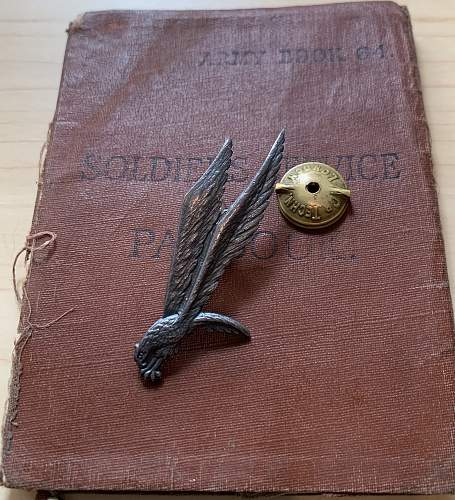 Another Para Badge reunited with documents. Polish SOE Courier who jumped in to Poland. One of 28